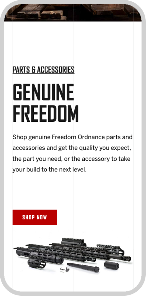 Freedom Ordnance Mobile Home Page