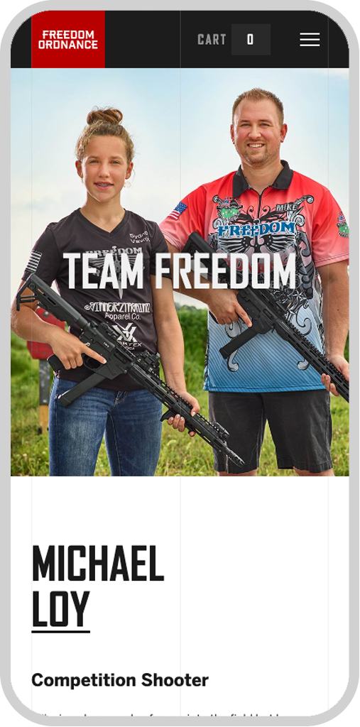 Freedom Ordnance Mobile Team Page