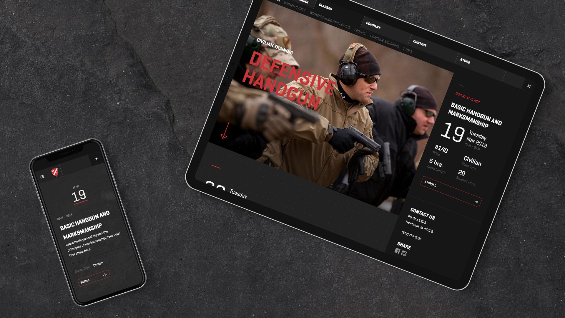 Hard Target Mobile Website Design