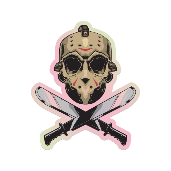 Unlucky Friday Crossbones Sticker