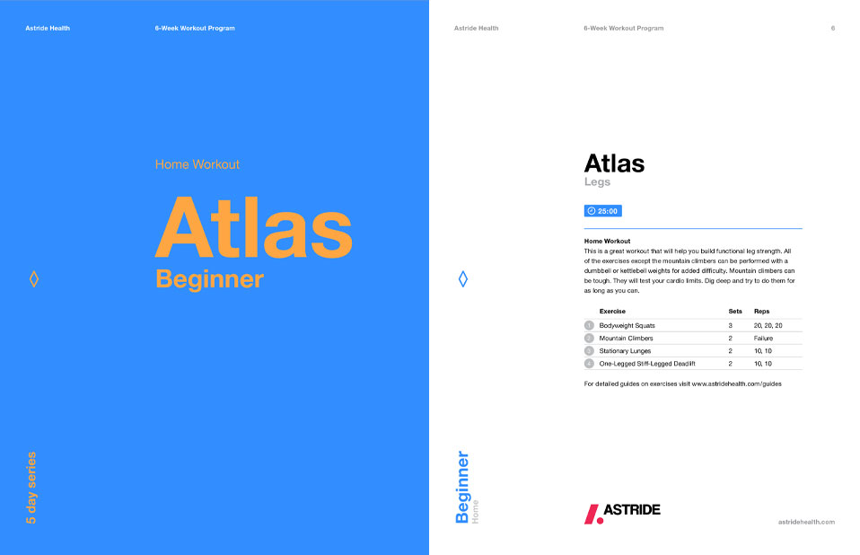 Astride Fitness Guide Atlas Beginner