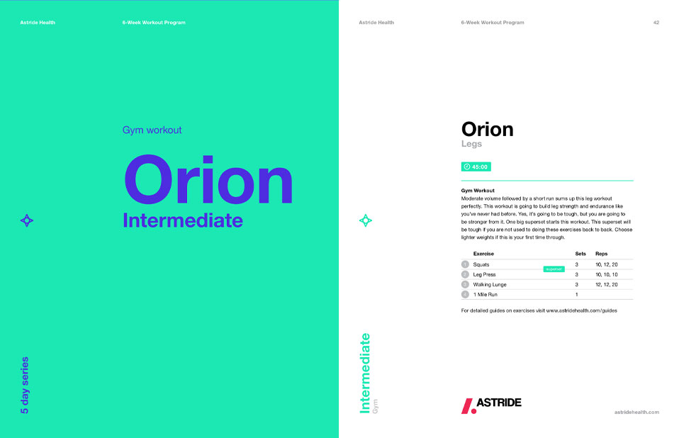 Astride Fitness Guide Orion Intermediate