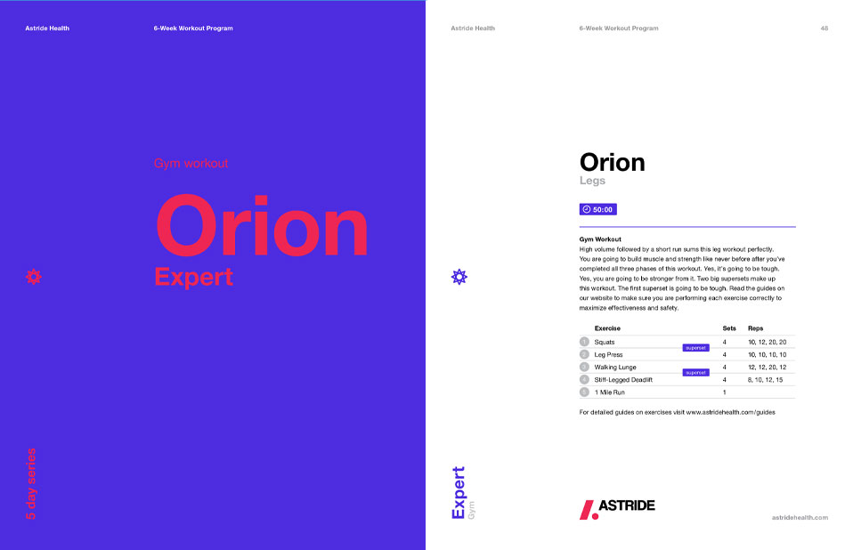 Astride Fitness Guide Orion Expert