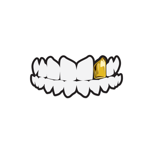 Gold Tooth Sticker